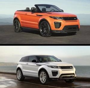 """Range Rover Evoque Convertible vs el """"normal"""""""