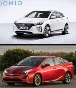 Hyndai Ioniq y Toyota Prius