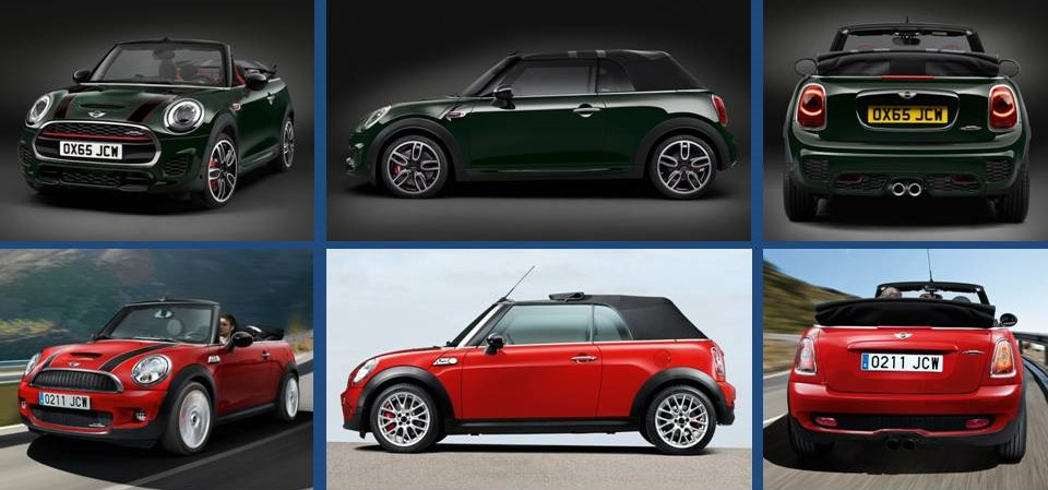 Mini John Cooper Works Convertible 2016 vs el actual