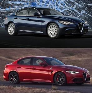 Alfa Romeo Giulia normal vs Quadrifoglio