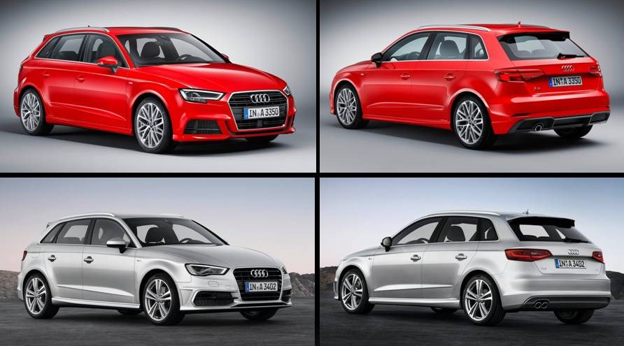 Audi A3 Sportback 2017 vs 2016