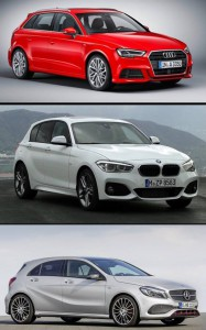 Audi A3 Sportback vs BMW Serie 1 y MB Clase A