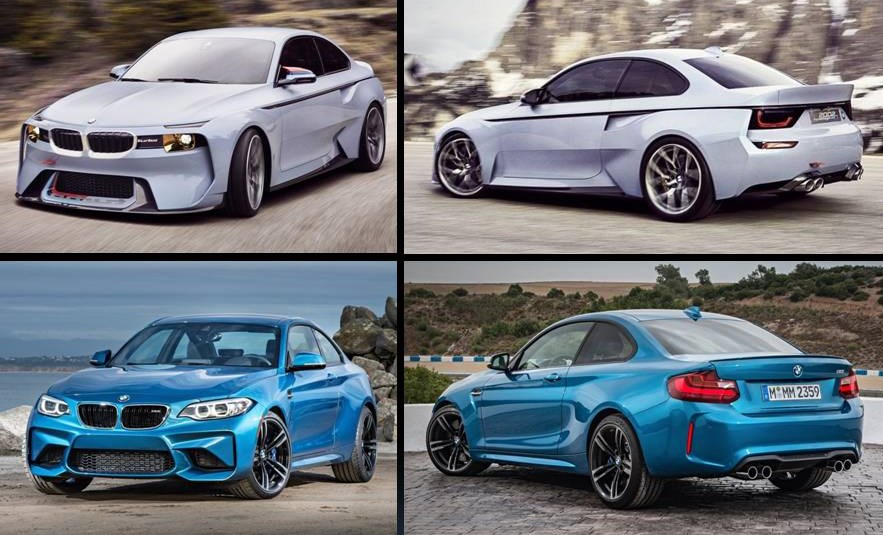 BMW 2002 hommage vs 2002 original
