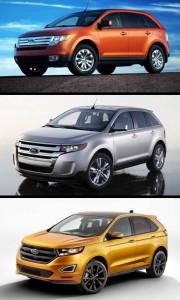 Ford Edge actual y antecesoras