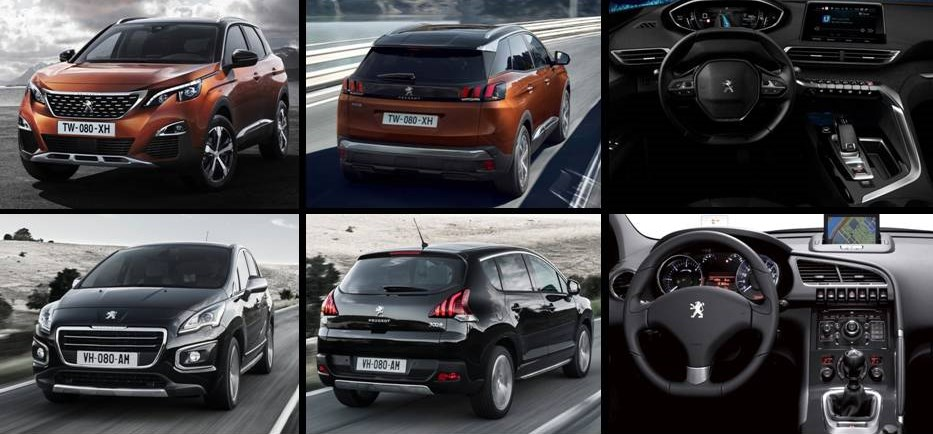 Peugeot 3008 2017 vs actual