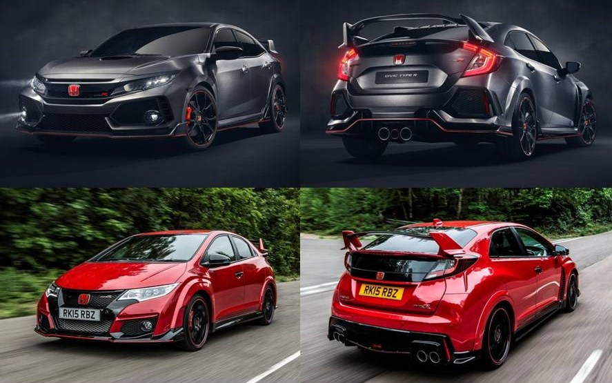 este es el espectacular honda civic type r 2017 300 cv. Black Bedroom Furniture Sets. Home Design Ideas